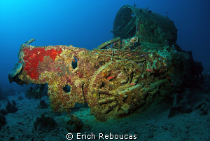 Portside locomotive of the SS Thistlegorm, laying on the ... by Erich Reboucas 